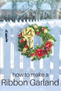 How To Make A Ribbon Garland