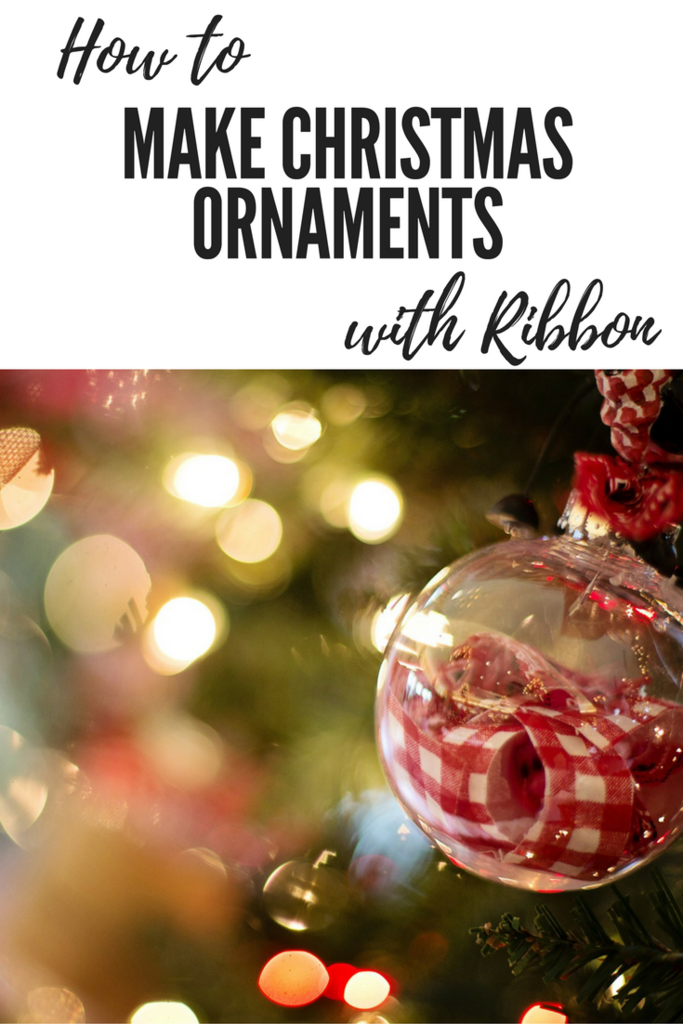 How To Make Christmas Ornaments With Ribbon