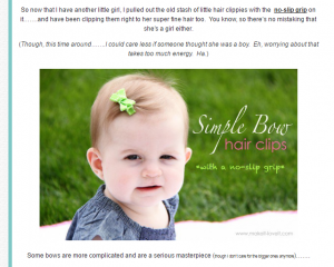 Baby's hair bow
