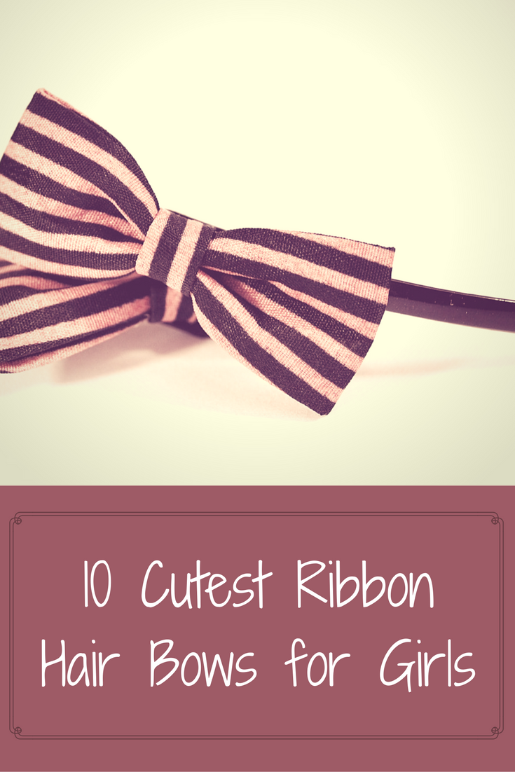 Ribbon hair bows for girls
