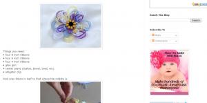 Flower hair bow