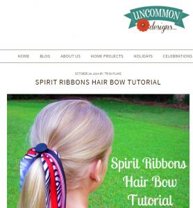 Spirit ribbon hair bow