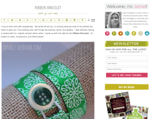 DIY ribbon bracelet