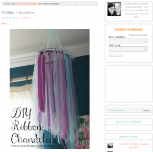 Make ribbon chandelier