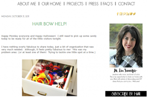 Organize your hair bows and hair bands