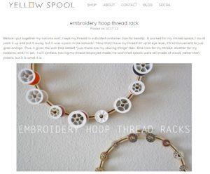 Embroidery Hoop Thread Rack