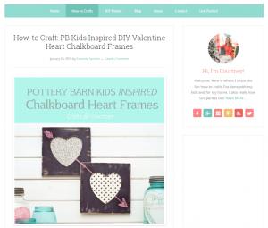 Chalkboard heart frames