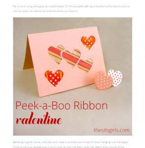 Ribbon homemade card