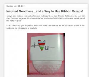 Ribbon scraps card