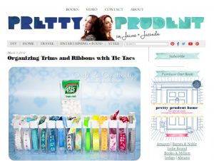 Organizing Trims and Ribbons with Tic Tacs