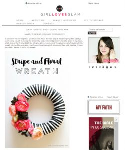Ribbon and Flowers Wreath