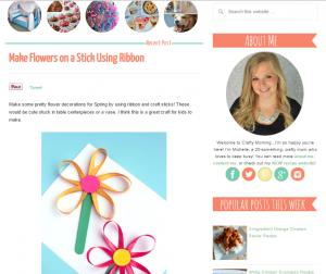 Flower ribbon decorations