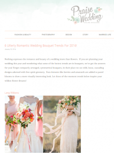 Wedding bouquets and ribbon