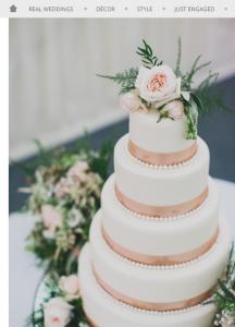 Ribbon cake decoration