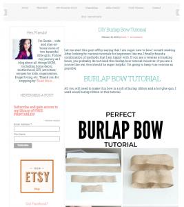Burlap double bow