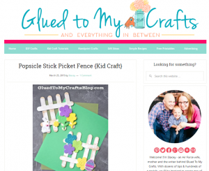 Easter picket fence