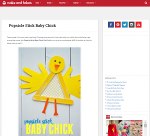 Popsicle chick