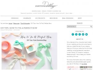 Elegant ribbon bow