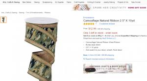 Camouflage Natural Multi-layer Ribbon