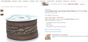 Camouflage Multi-layer Burlap Ribbon