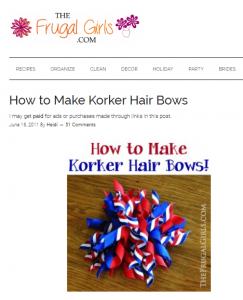 Korker hair bow