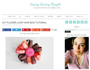 Spring hair bow