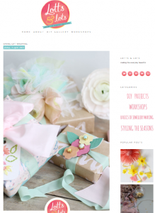 Spring gift wrapping