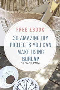 30 AMAZING DIY PROJECTS YOU CAN MAKE USING BURLAP