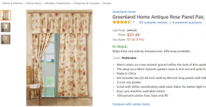 Antique country curtains