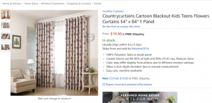 Country curtains flower