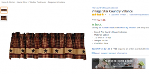 Country valance