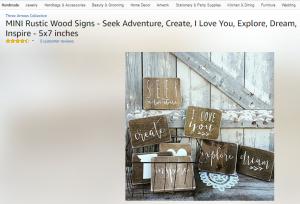 Rustic wood sign mini