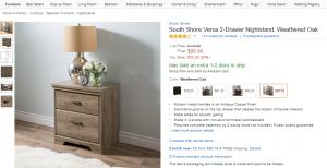 Weathered oak nightstand