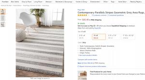 Rug grey stripes