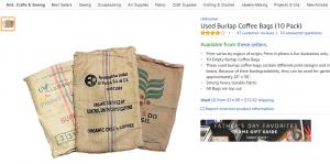 Used burlap sacks