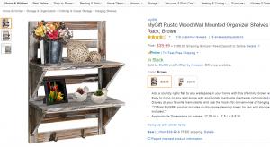Rustic organizer shelf