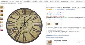 Rustic wood clock