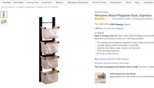 Vintage wood rack