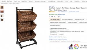 Rustic storage baskets